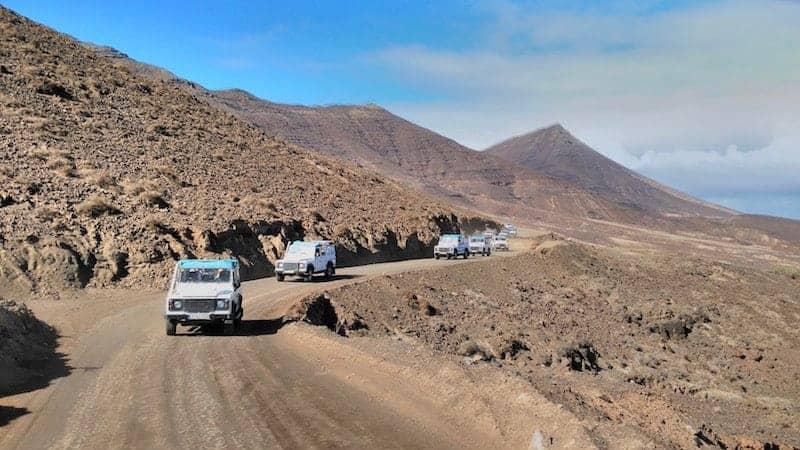 Carreteras para todoterreno por el norte de Fuerteventura