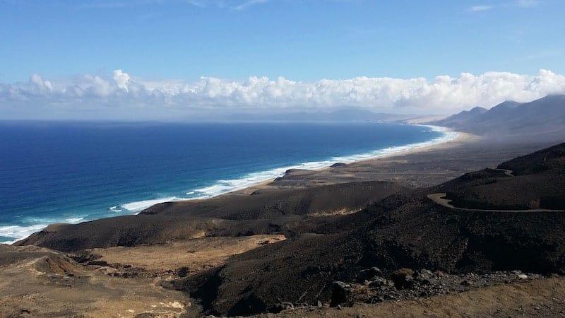 Paisaje de la costa sur de Fuerteventura