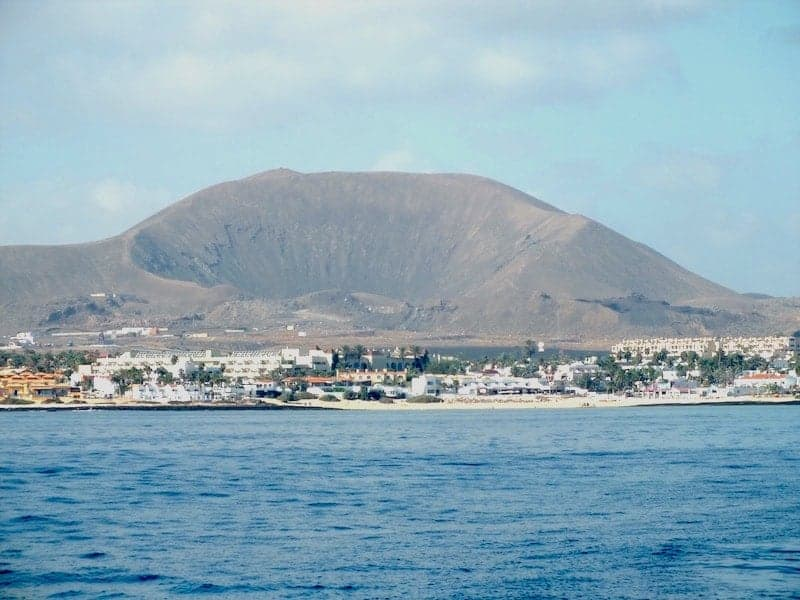 Port of Corralejo from the sea