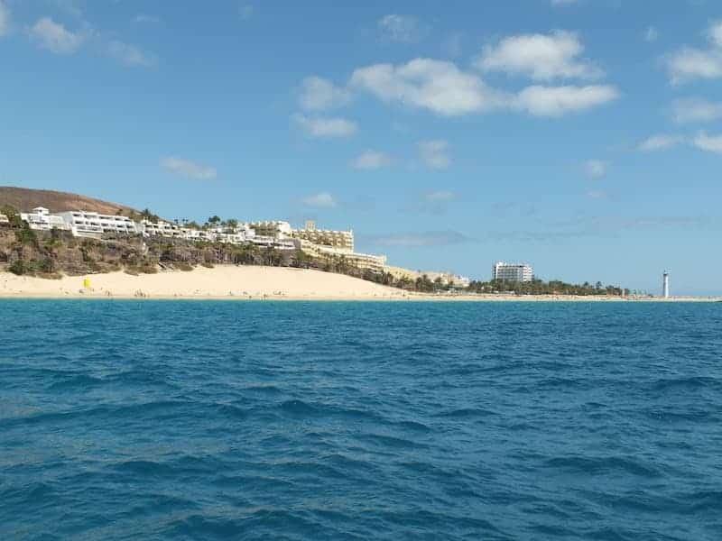 Morro Jable Strand und Leuchtturm