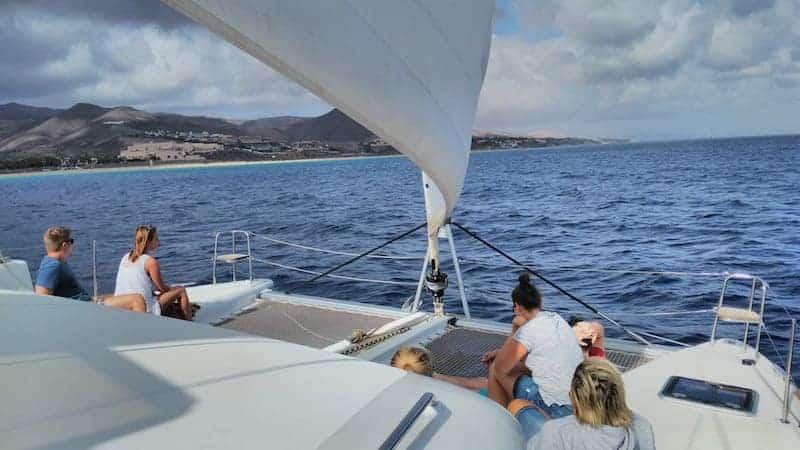 Blick auf Fuerteventura vom Deck aus