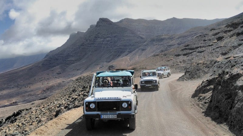 jeeps para llegar a Cofete