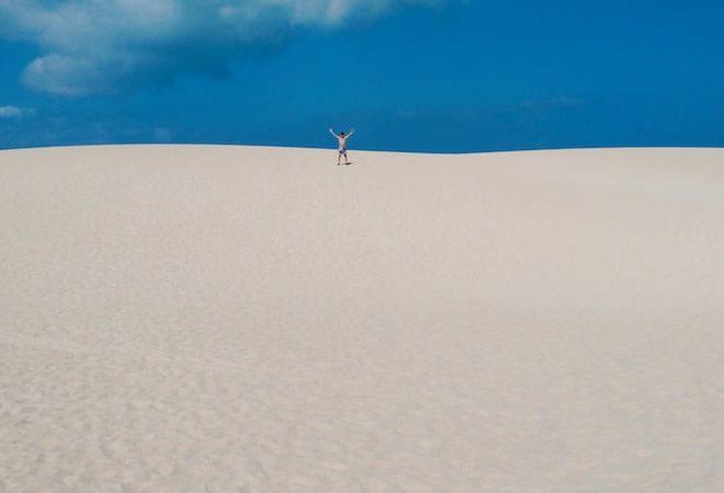 Dunas de arena blanca de Corralejo