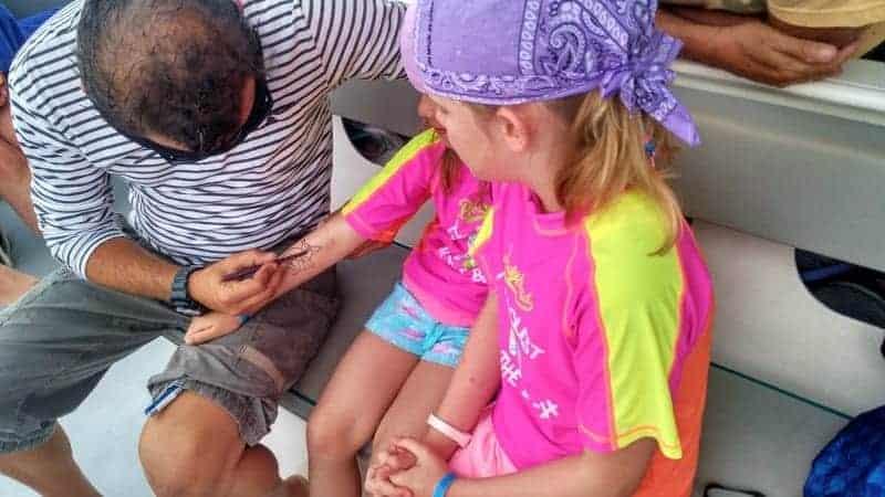 Aktivitäten für Kinder auf dem Boot