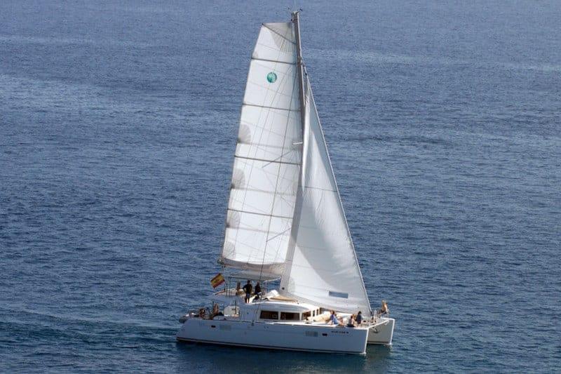 VIP catamaran sailing